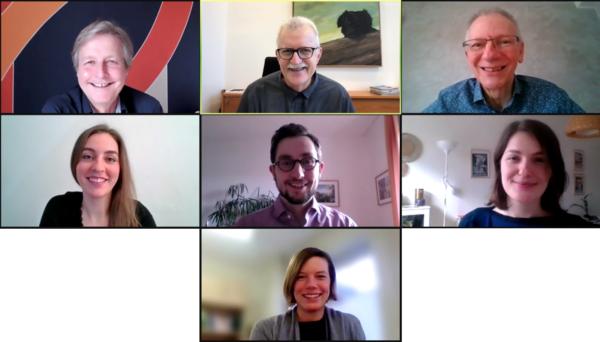 Screenshot: Vorstandsmitglieder im Videochat